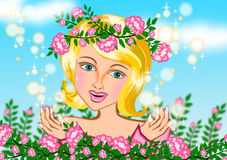 Menina do verão da mola ilustração do vetor
