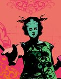 Menina do vetor de Grunge Imagens de Stock Royalty Free