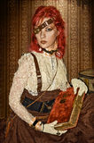 Menina do Victorian de Steampunk Imagem de Stock