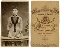 Menina do vintage Imagens de Stock Royalty Free