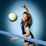 Menina do voleibol Foto de Stock Royalty Free