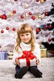 Menina do Xmas foto de stock royalty free