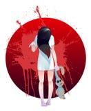 Menina do zombi Fotografia de Stock Royalty Free