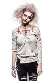 Menina do zombi do vivo Fotos de Stock