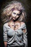 Menina do zombi do vivo Imagem de Stock