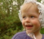 Menina doce com capota Fotografia de Stock Royalty Free