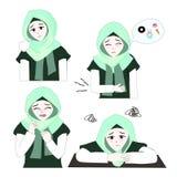 Menina doce 6 de Hijab Fotos de Stock Royalty Free