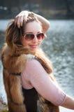 Menina doce e bonita Fotos de Stock Royalty Free