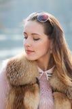 Menina doce e bonita Imagens de Stock Royalty Free