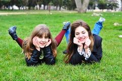 Menina dois de riso Fotos de Stock Royalty Free