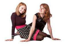Menina dois de sorriso Foto de Stock Royalty Free