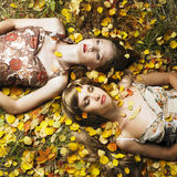 Menina dois romântica Fotos de Stock