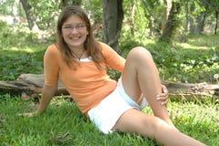 menina dos anos de idade 12 Fotos de Stock