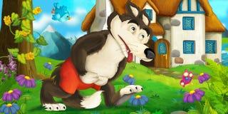 Menina dos desenhos animados Imagem de Stock Royalty Free
