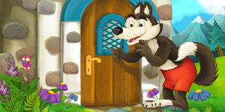 Menina dos desenhos animados Fotografia de Stock Royalty Free