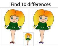 Menina dos desenhos animados Menina da garatuja ilustração do vetor
