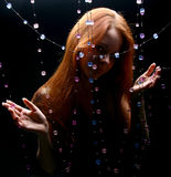 Menina dos diamantes foto de stock