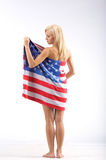 Menina dos EUA imagem de stock