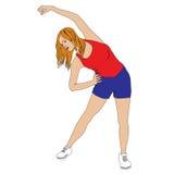 Menina dos exercícios Imagens de Stock