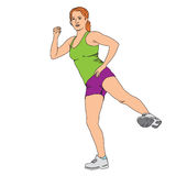 Menina dos exercícios Foto de Stock Royalty Free