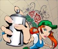 Menina dos grafittis Imagem de Stock