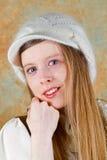 Menina dos olhos azuis Fotografia de Stock