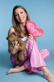 Menina dos Valentim fotos de stock