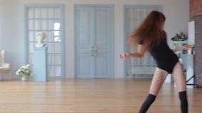 Menina durante a dança