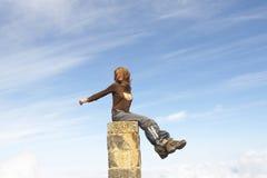 Menina e céu Foto de Stock