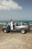 Menina e carro Fotos de Stock Royalty Free