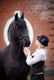 Menina e cavalo Imagem de Stock