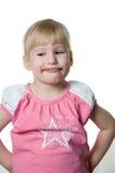Menina e chocolate Fotos de Stock Royalty Free