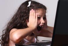 Menina e computador Imagem de Stock Royalty Free
