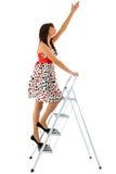Menina e escada Imagem de Stock Royalty Free