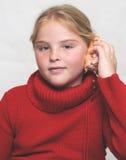 Menina e escudo imagem de stock royalty free