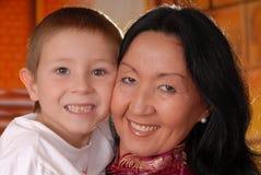 Menina e filho tradicionais 2 Fotos de Stock