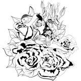 Menina e flor da fantasia fotografia de stock royalty free