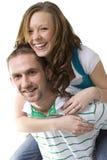Menina e homem que têm o divertimento. Imagens de Stock