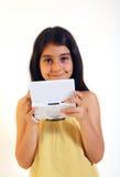 Menina e jogos video Imagens de Stock