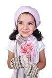 Menina e lollipop fotografia de stock royalty free