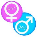 Menina e menino Fotografia de Stock Royalty Free
