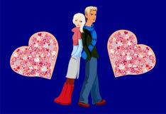 menina e menino, Imagens de Stock Royalty Free