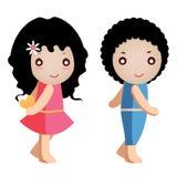 Menina e menino ilustração royalty free