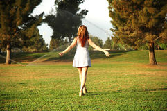 Menina e natureza Foto de Stock