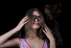 Menina e o monstro Imagens de Stock Royalty Free