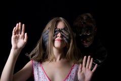 Menina e o monstro Fotografia de Stock
