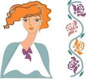 Menina e ornamento. Imagens de Stock