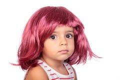 Menina e peruca Fotos de Stock Royalty Free