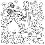Menina e príncipe pequeno Foto de Stock