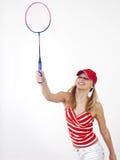 Menina e raquete Fotos de Stock Royalty Free